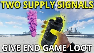Two Supply Signals Got Me End Game Loot - Rust Solo Survival Gameplay
