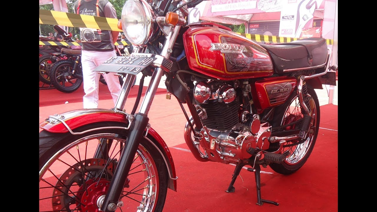 Honda Gl 100 Original Modifikasi Simple Youtube