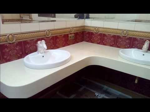 Столешница из литьевого мрамора в Махачкале в ванную от компании Sbs05ru заказать тел +7(989)665⁴646