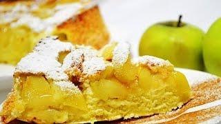 ВидеоРЕЦЕПТ: ШАРЛОТКА с яблоками! Воздушная шарлотка)))Вкусно и ПРОСТО!! Ксюша+ Катя = Шарлотка.