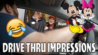 BEST REACTION EVER! - Mickey and Minnie at Drive-Thru - Valentines Day