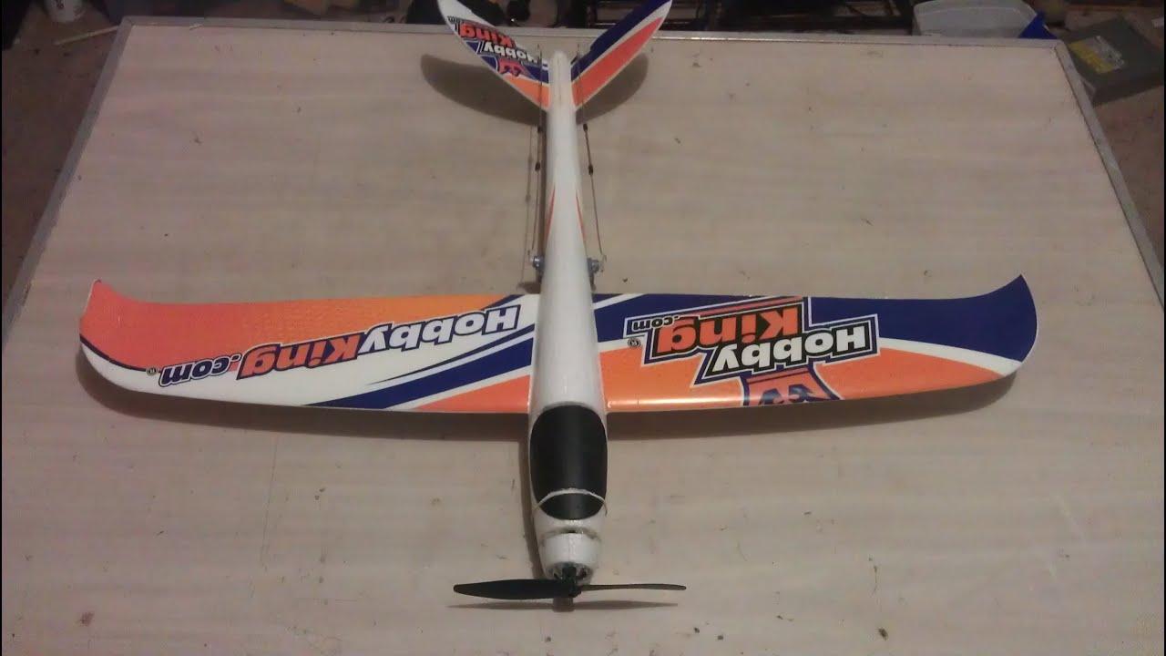 Hobbyking Glider RC Conversion - YouTube