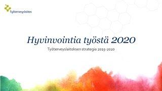 Hyvinvointia työstä 2020. Työterveyslaitoksen strategia 2015-2020.