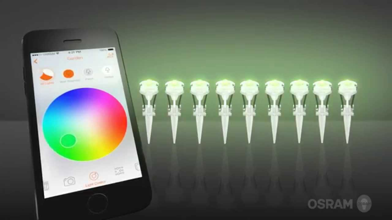 lightify gardenspot mini rgb from osram doovi. Black Bedroom Furniture Sets. Home Design Ideas