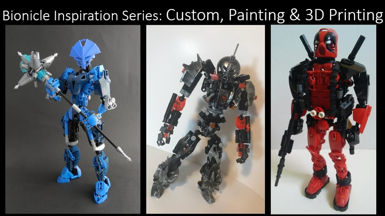 bionicle inspiration series ep 63 custom painting 3d printing 2