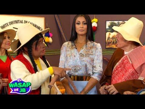 Karla Tarazona visitó a los ronderos de El Wasap de JB