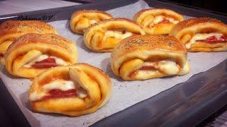 Пицца- улитка! Пальчики оближешь! Невероятно сочно, просто и вкусно!