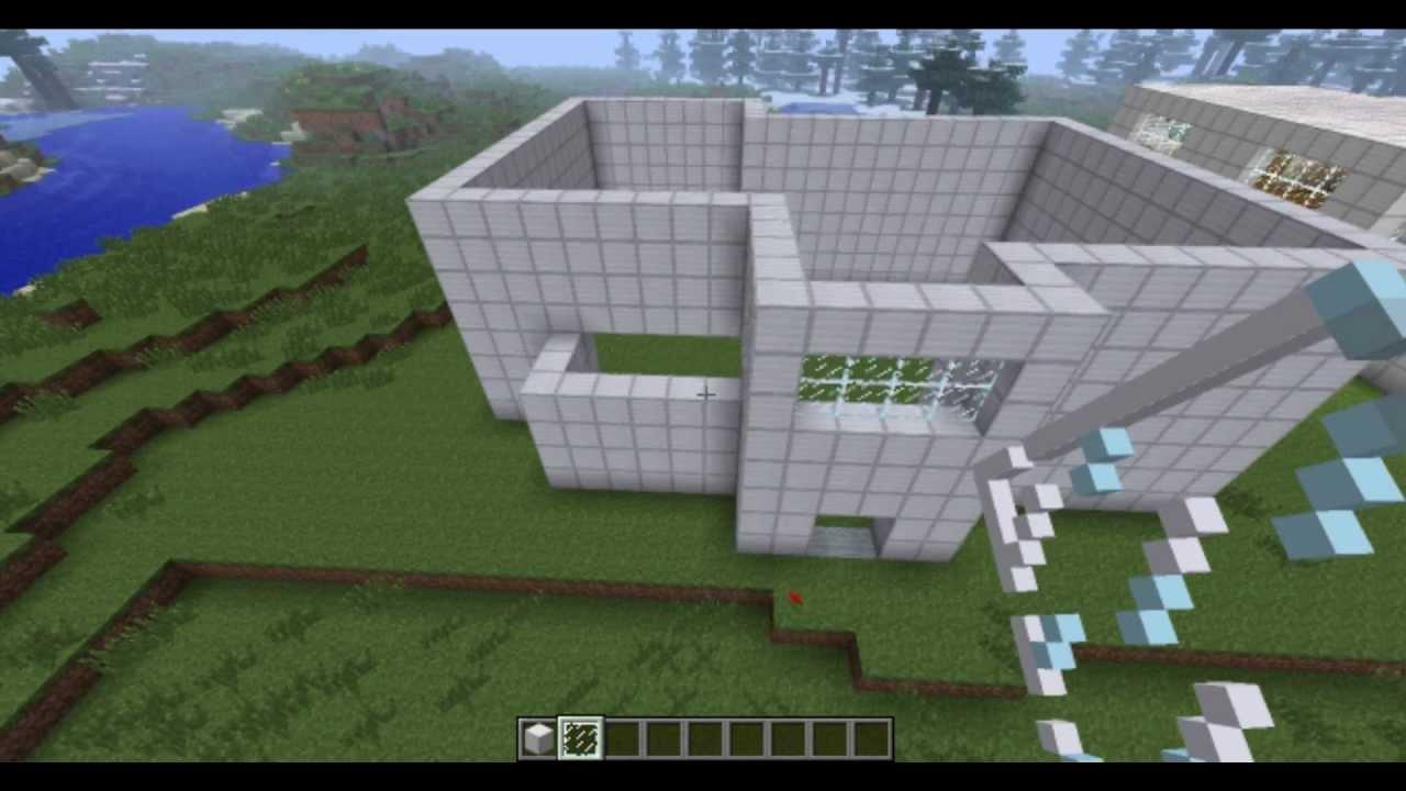 Minecraft tuto: maison moderne (part.1)   youtube