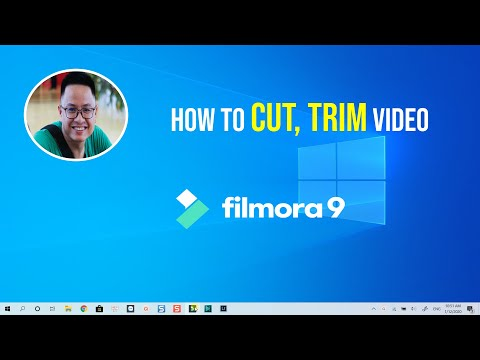 How to CUT and TRIM Video (Filmora 9 Video Editor)