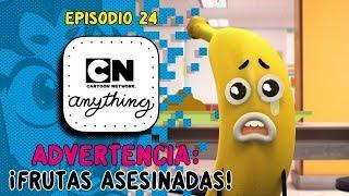 ¿Qué es ese sonido? ¡¿SON DIBUJOS ANIMADOS DE FRUTAS APLASTADOS?! :O | CN Anything | Cartoon Network