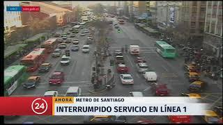Servicio interrumpido en estación Baquedano del Metro