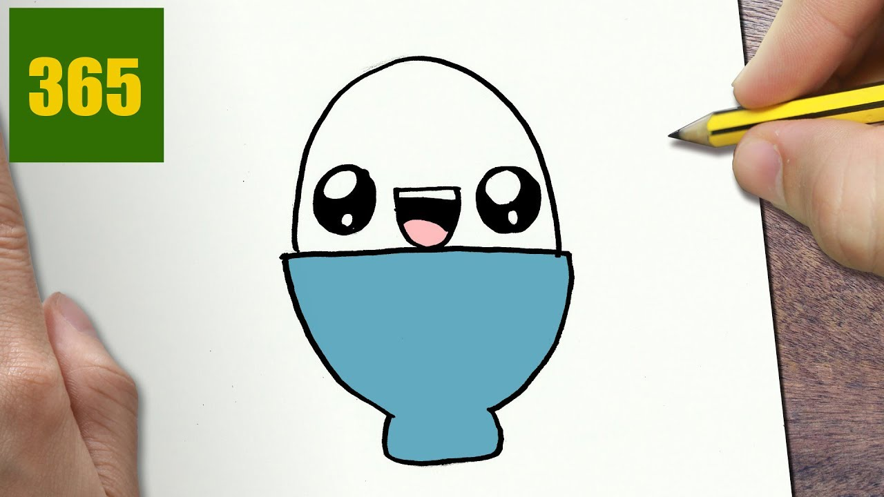 Come disegnare uovo kawaii passo dopo passo disegni for Disegni facili kawaii