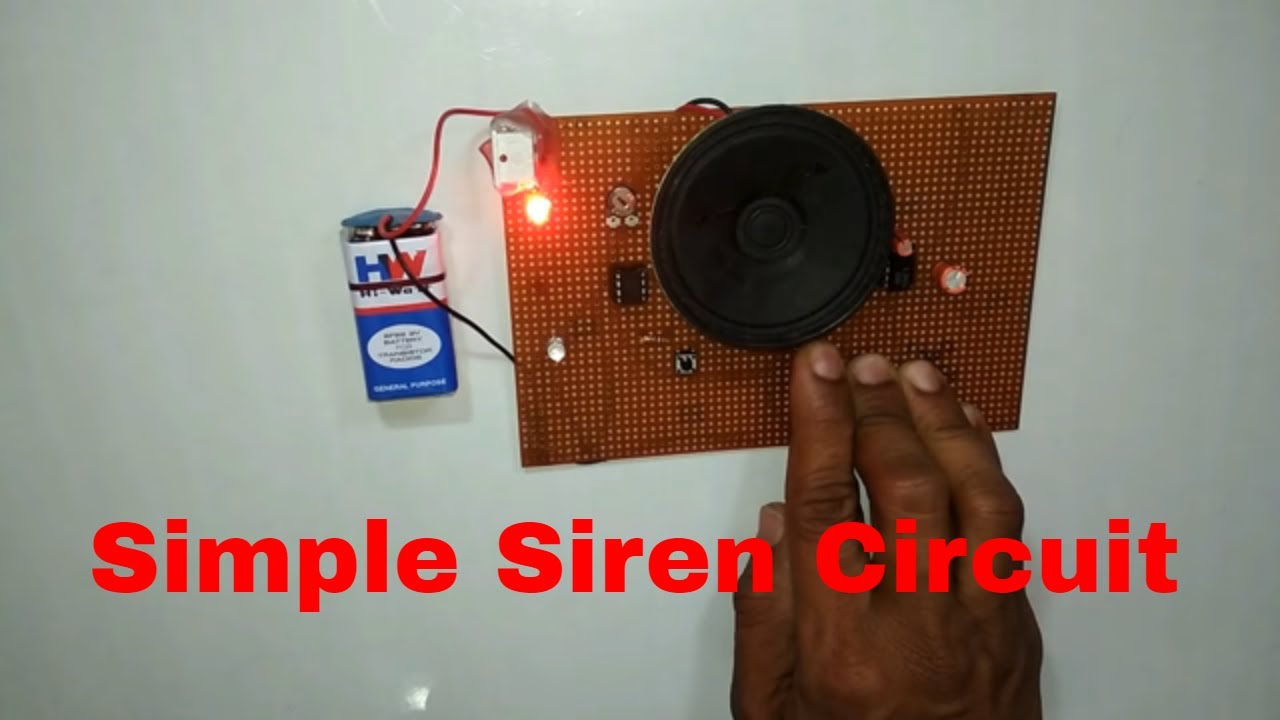 simple siren circuit part2 telugu police fire ambulance sounds siren tornado on fire  tilt sensor wiring diagram