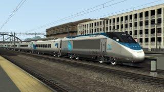 Train Simulator 2015 Hd: Amtrak Acela Express Train 2190 Cab Ride New York Penn To New Haven Union