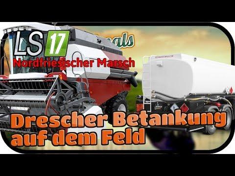 Drescher Betankung auf dem Feld #079 ANIMALS - LS17 NORDFRIESISCHER MARSCH ★  FARMING SIMULATOR 17