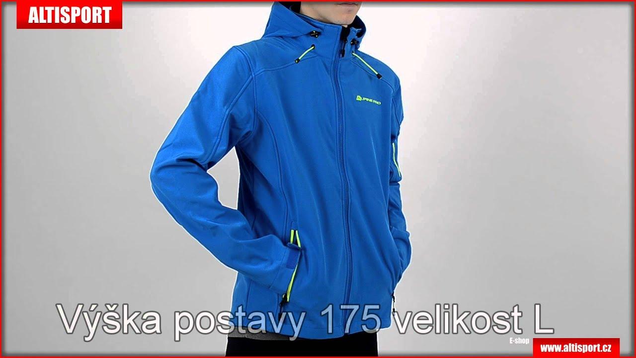 pánská softshellová bunda alpine pro nootk modrá - YouTube d8120a0142f
