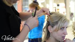 warkocz holenderski na boku, fryzura na wesele- hairstyles for for medium long hair tutorial
