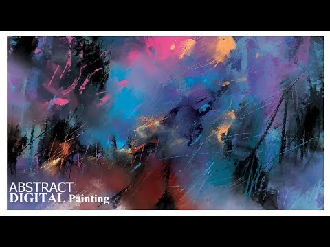 Abstract painting | easy to make | painting tutorial | painting techniques | landscape | digital art