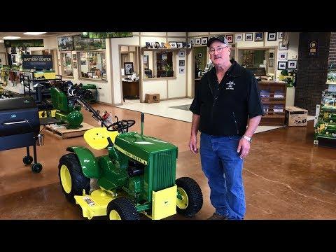 restored 1963 john deere 110 garden tractor in oklahoma