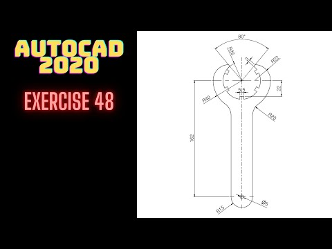 autocad-Çizim-Örnekleri-|-autocad-2d-practice-drawing-|-ejemplos-de-dibujo-de-autocad-|-exercise-48