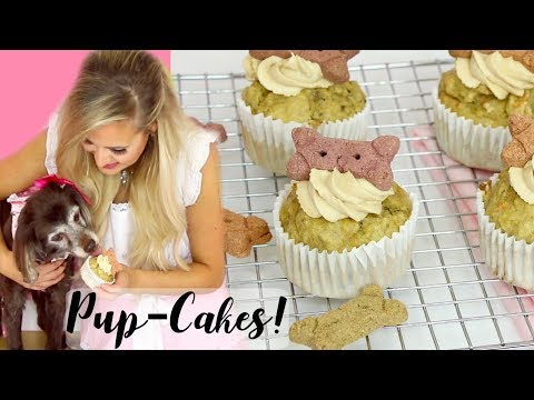 How To Make Healthy Pup-Cakes (Cupcakes For Dogs) // Lindsay Ann Bakes
