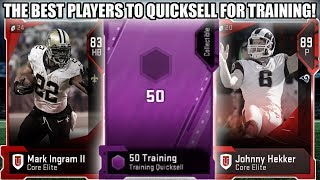 THE BEST PLAYERS TO QUICKSELL FOR TRAINING POINTS! BEST VALUE! | MADDEN 19 ULTIMATE TEAM