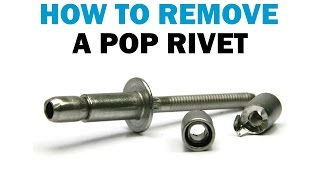 How to Remove PΟP Rivets Without Surface Damage | Fasteners 101
