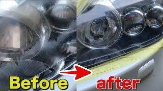 ヘッドライトの磨きは自分でできる!超簡単裏技。