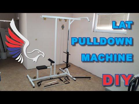 DIY Homemade Lat Pulldown Machine, Home Gym Equipment (plan)