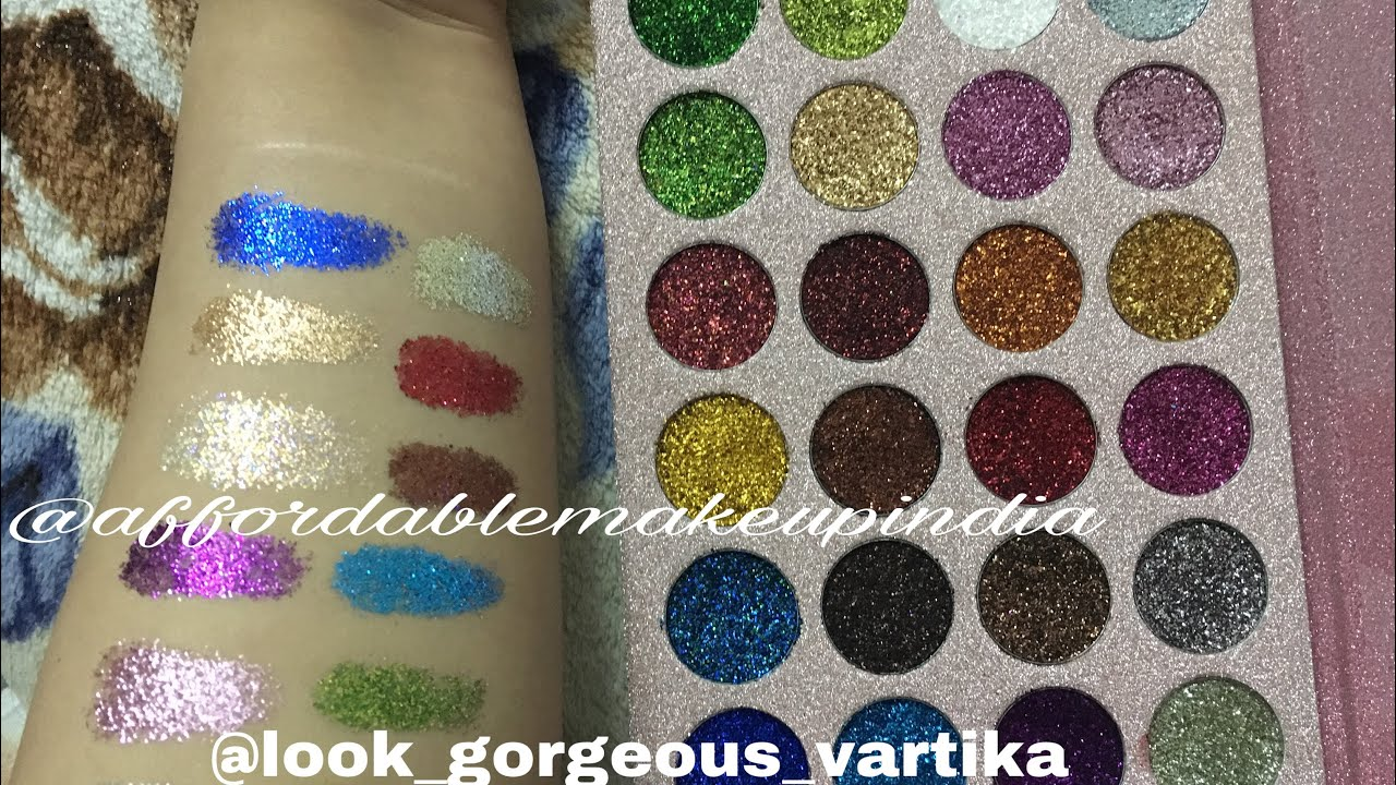 Best affordable glitter eyeshadow palette/ Review, demo, swatches ...