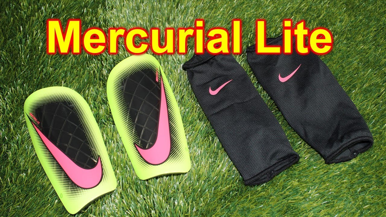 designer fashion b8f3c f76b2 Nike Mercurial Lite 2014 Shin Guards Review - YouTube