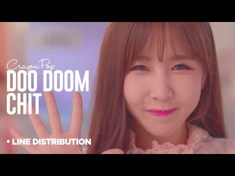 CRAYON POP - Doo Doom Chit : Line Distribution (Color Coded)