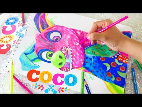 Dibujando A Dante Alebrije Coco Disney Pixar Drawing Youtube