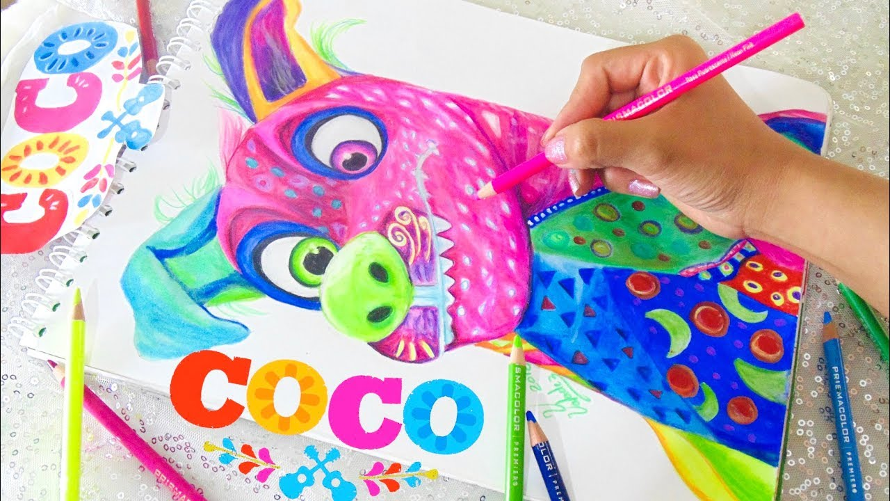 Dibujando A Dante Alebrije Coco Disney Pixar Drawing
