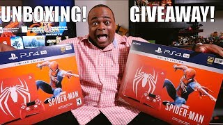Spider-Man PS4 Pro Console UNBOXING & GIVEAWAY! [Limited Edition]