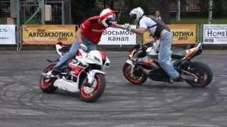 Автоэкзотика 2013 - 4. crazy bike stunts мото трюки байкеров с девушкой