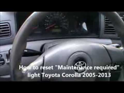 2011 toyota corolla reset maintenance required light doovi. Black Bedroom Furniture Sets. Home Design Ideas