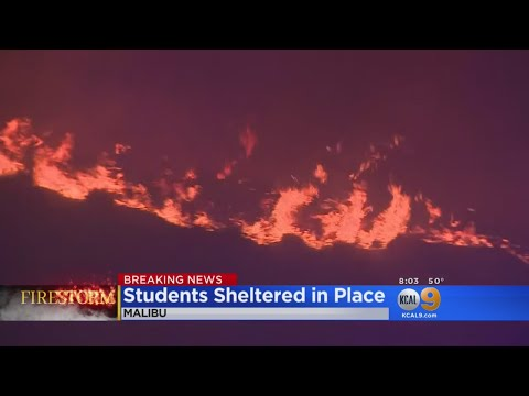 Pepperdine University Shelters In Place As Fire Rages Near Campus