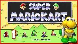 Super Mario Kart #1 ★ Mushroom Cup 100cc   Let's Play Mario Kart (SNES)
