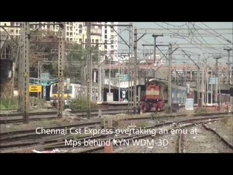 Congregation of Diesel & Electric Locomotives with Express Trains at Bhandup, Mumbai