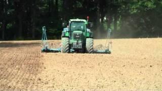Trimble FMX RTK Autopilot a EZ-Boom, setí pšenice (září 2010)