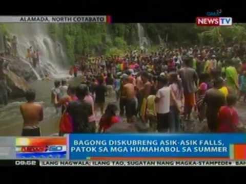 NTG: Bagong diskubreng Asik-Asik Falls sa North Cotabato, patok sa mga humahabol sa summer (050312)