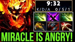 Miracle- IS ANGRY! Gank Everywhere - Double Butterfly Shadow Fiend Dota2