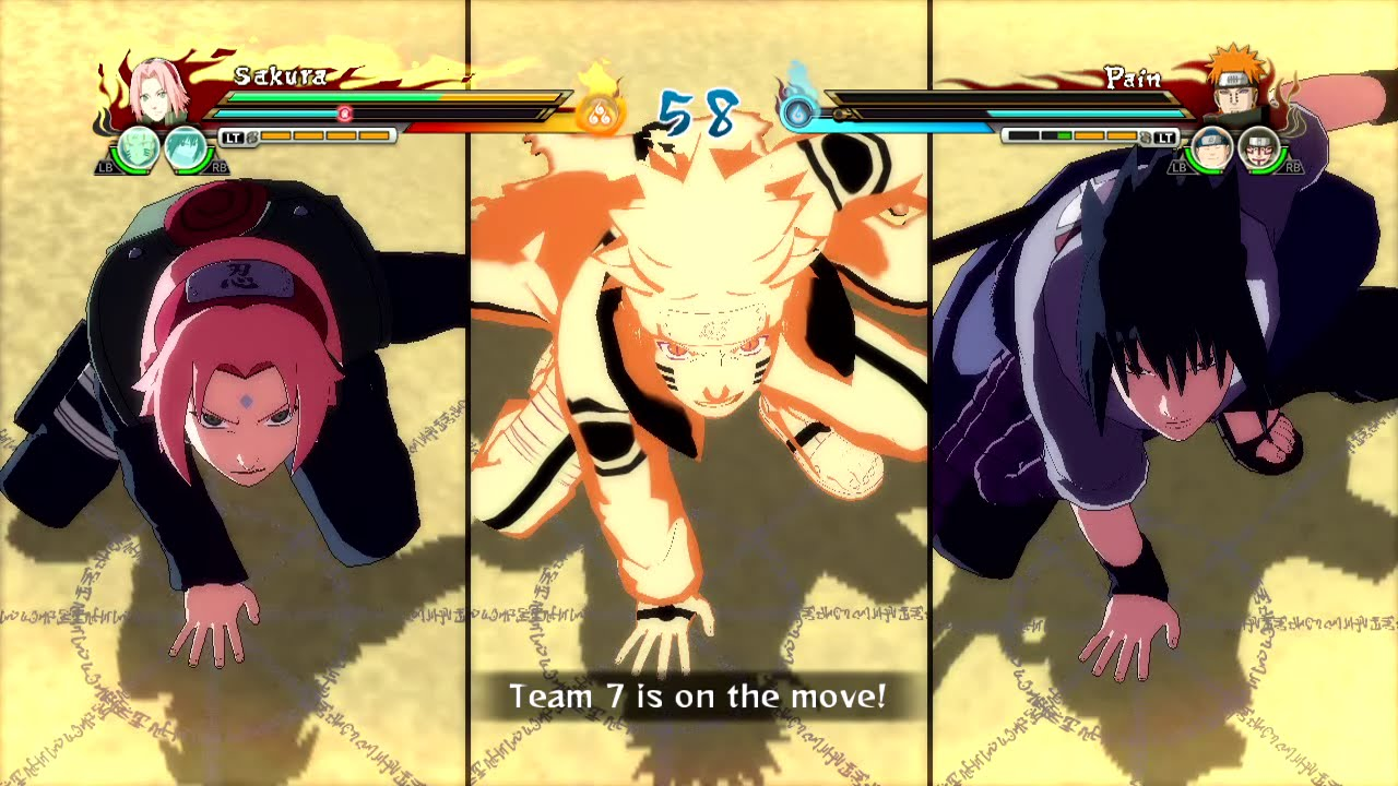 Naruto Ultimate Ninja Storm Revolution - Team 7 Combined Ultimate Jutsu  Gameplay