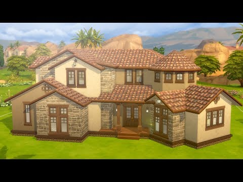 Let's Build a Mediterranean Mansion in The Sims 4 thumbnail