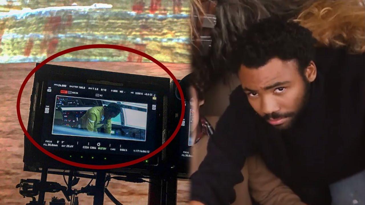 Donald Glover As Lando Calrissian Inside The Millennium Falcon On