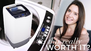 How To: Laundry for a Small Home   Review Black+Decker BPWM09W Portable Washer Demo Unboxing