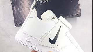 12c4a31785af Nike Air Force 1 Low Utility White Black Review ...