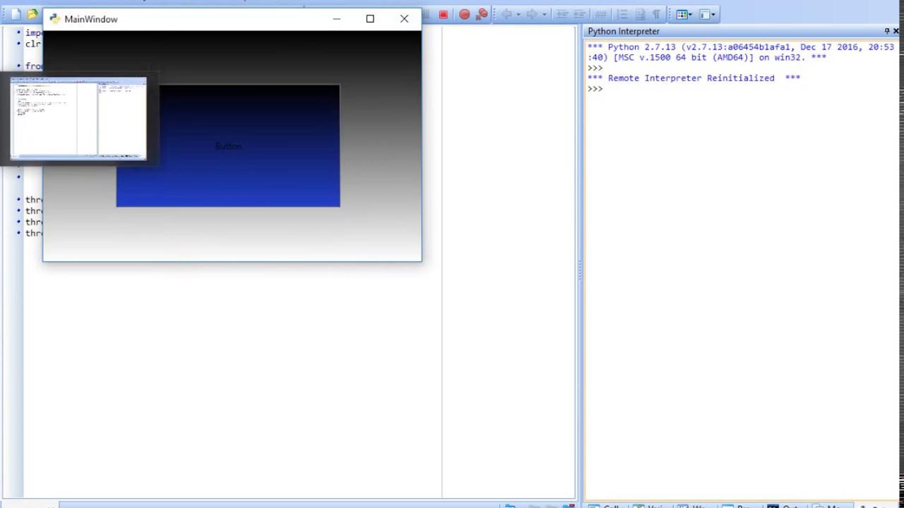 Python NET Animated Hello World (IronPython is different, check my  IronPython video)