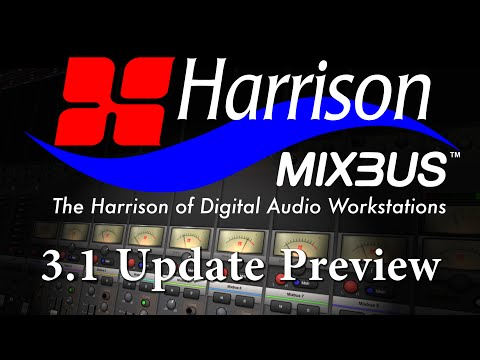 Harrison Mixbus 3.1 Update Preview